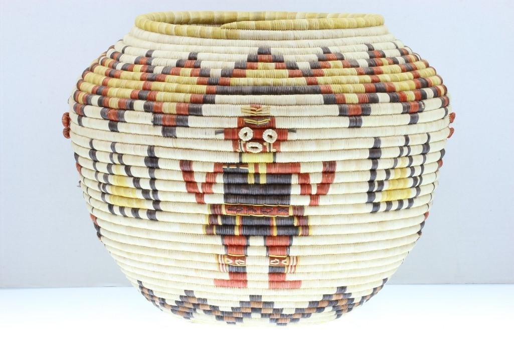 Hopi pictorial basket