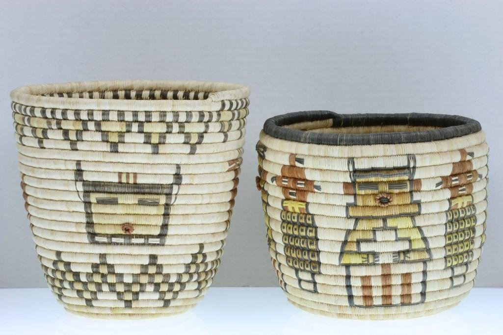 Two Hopi pictorial baskets - 3
