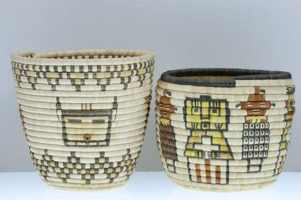 Two Hopi pictorial baskets - 5