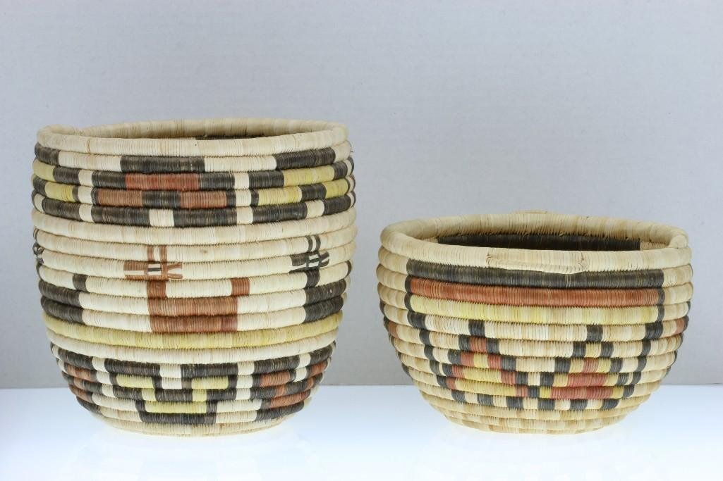 Two Hopi pictorial baskets - 4