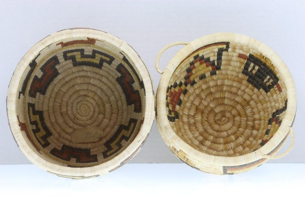 Two Hopi pictorial baskets - 7