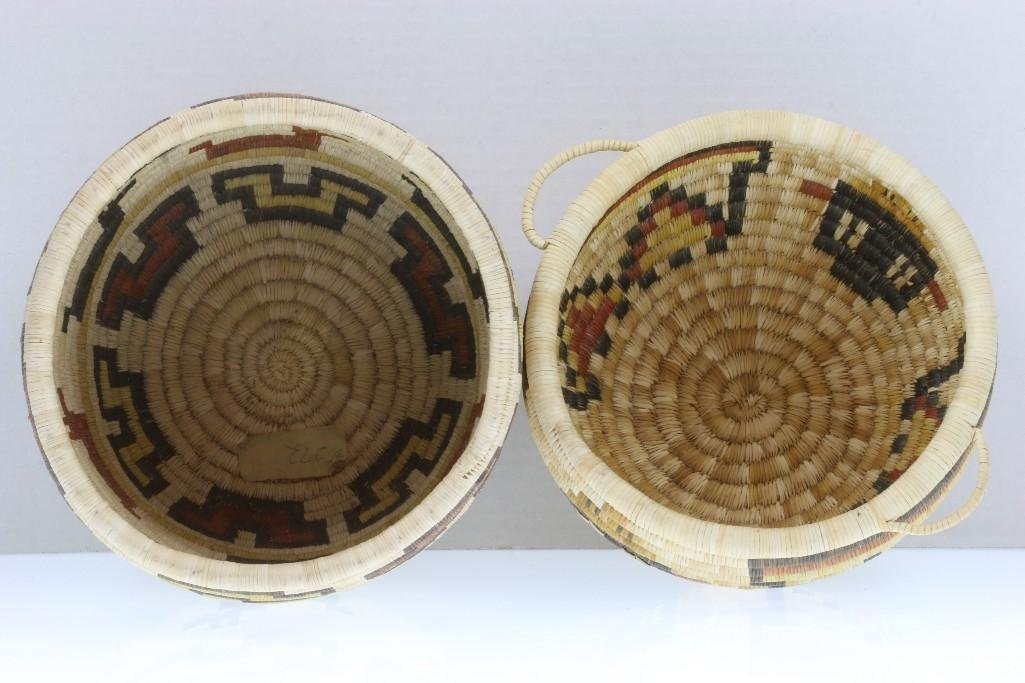 Two Hopi pictorial baskets - 8