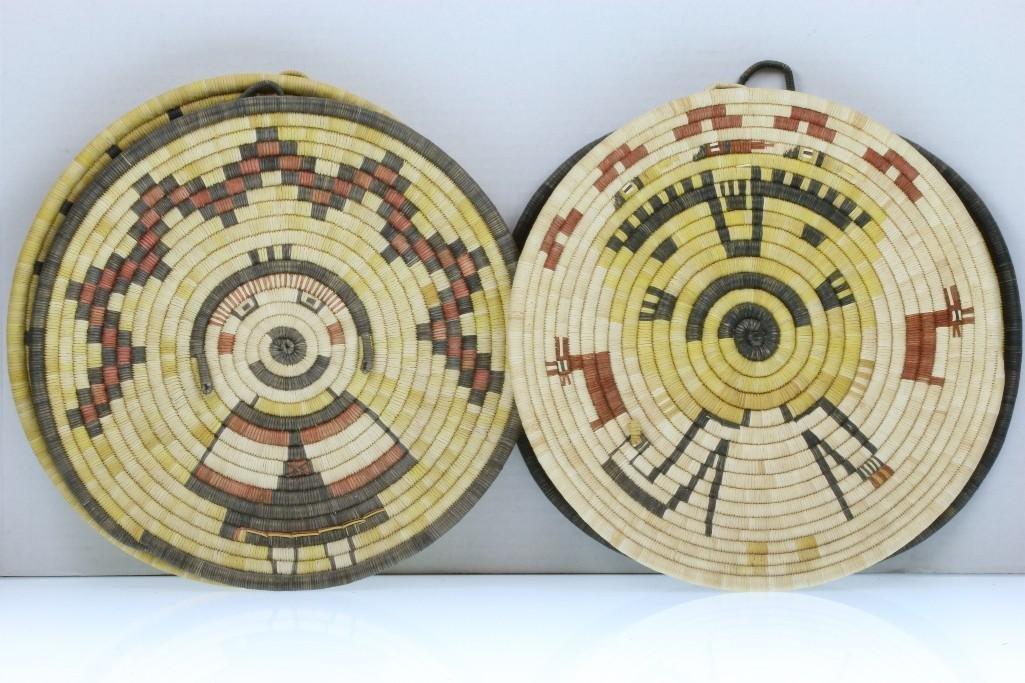 Four Hopi pictorial plaques - 3