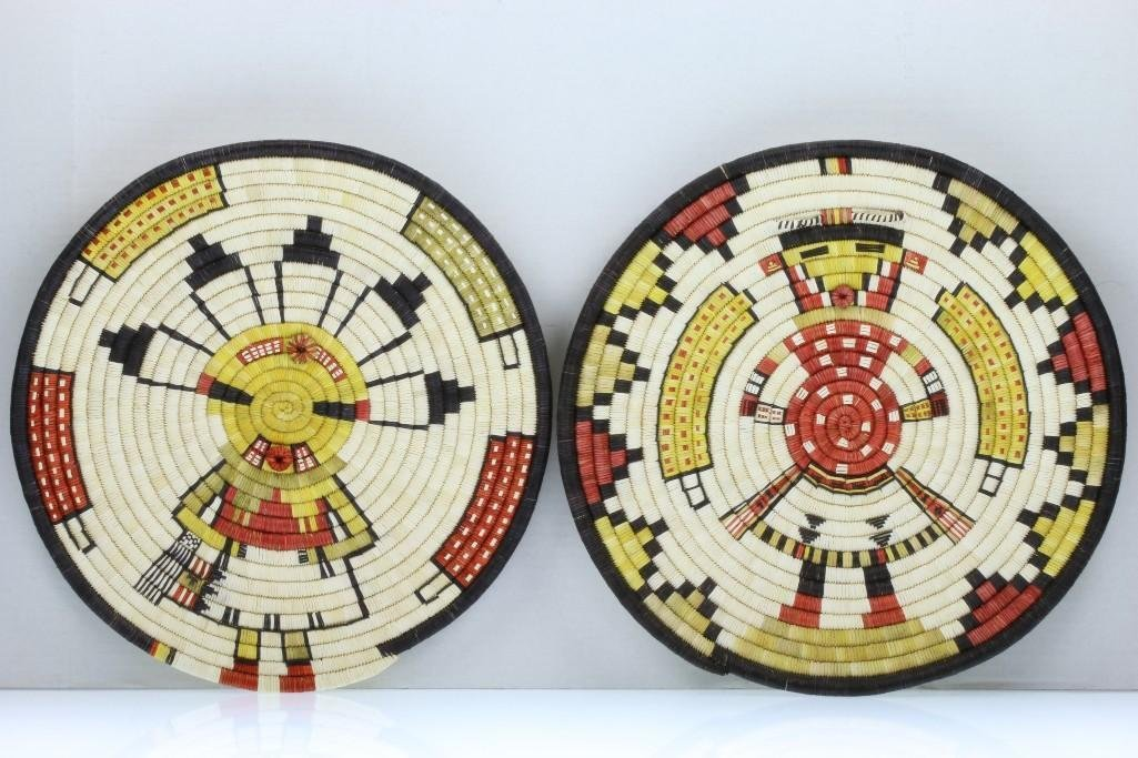Two Hopi pictorial plaques