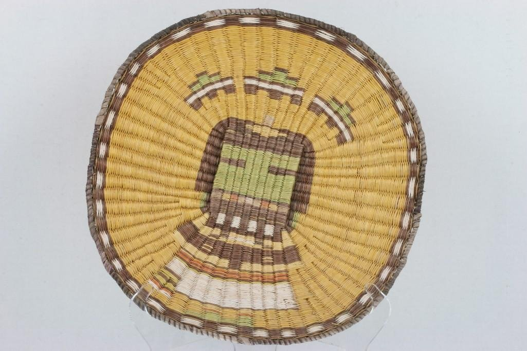 Three Hopi pictorial wicker plaques - 3