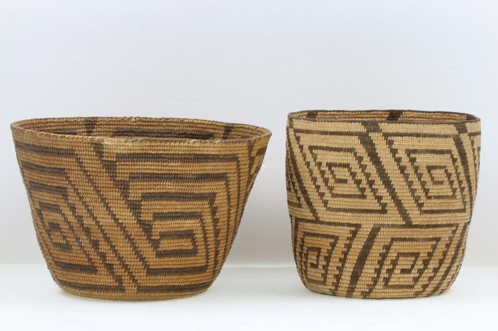 Two Pima baskets