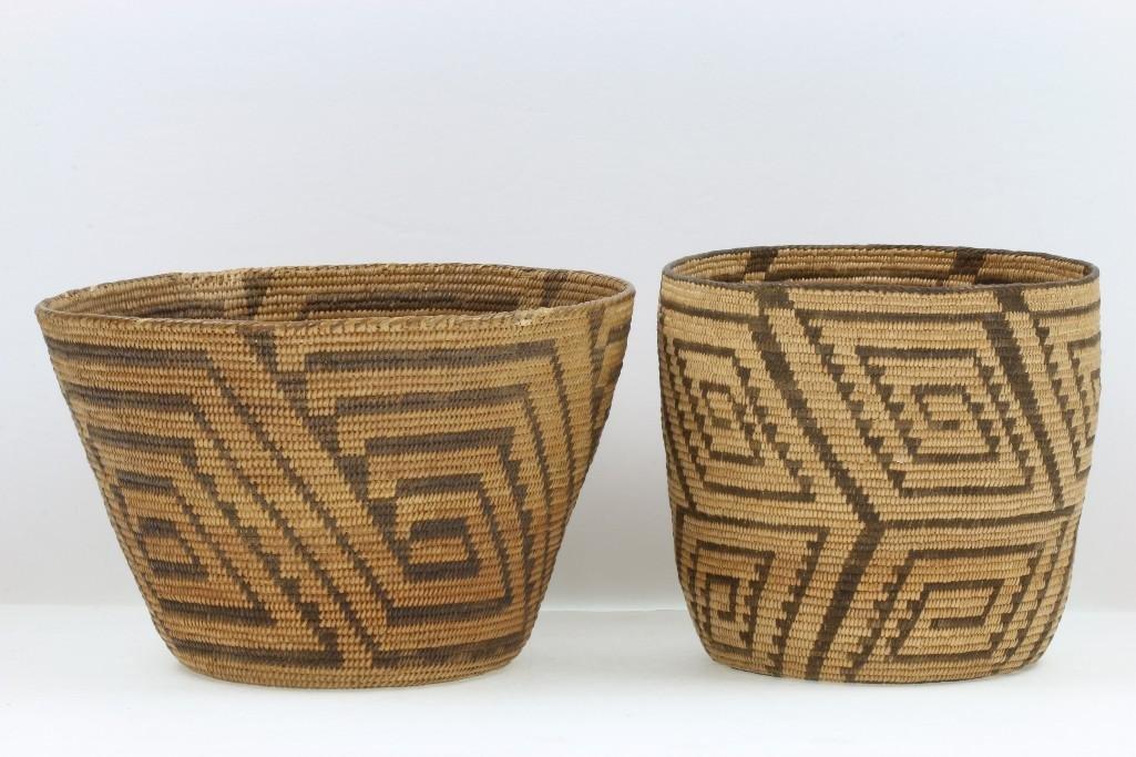 Two Pima baskets - 2