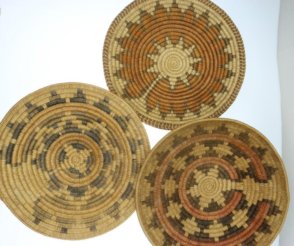 Three Navajo ceremonial trays