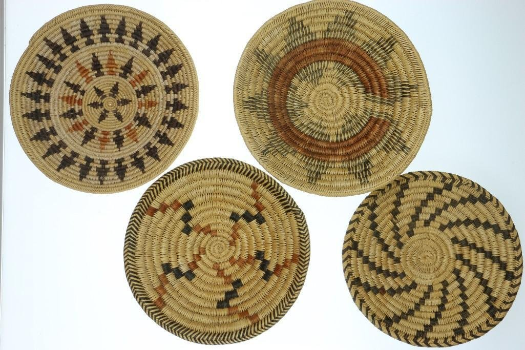 Four Navajo trays