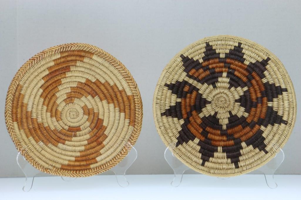 Five Navajo baskets - 3