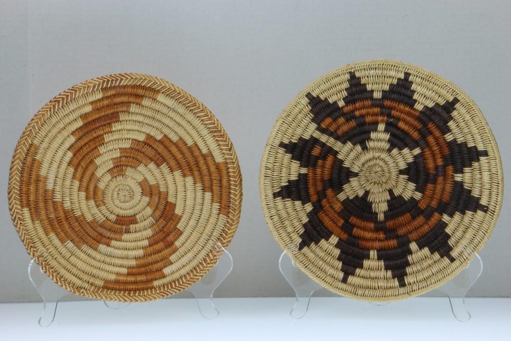 Five Navajo baskets - 4