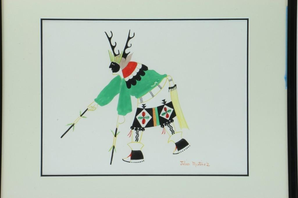 San Ildefonso painting of a Deer dancer - 2