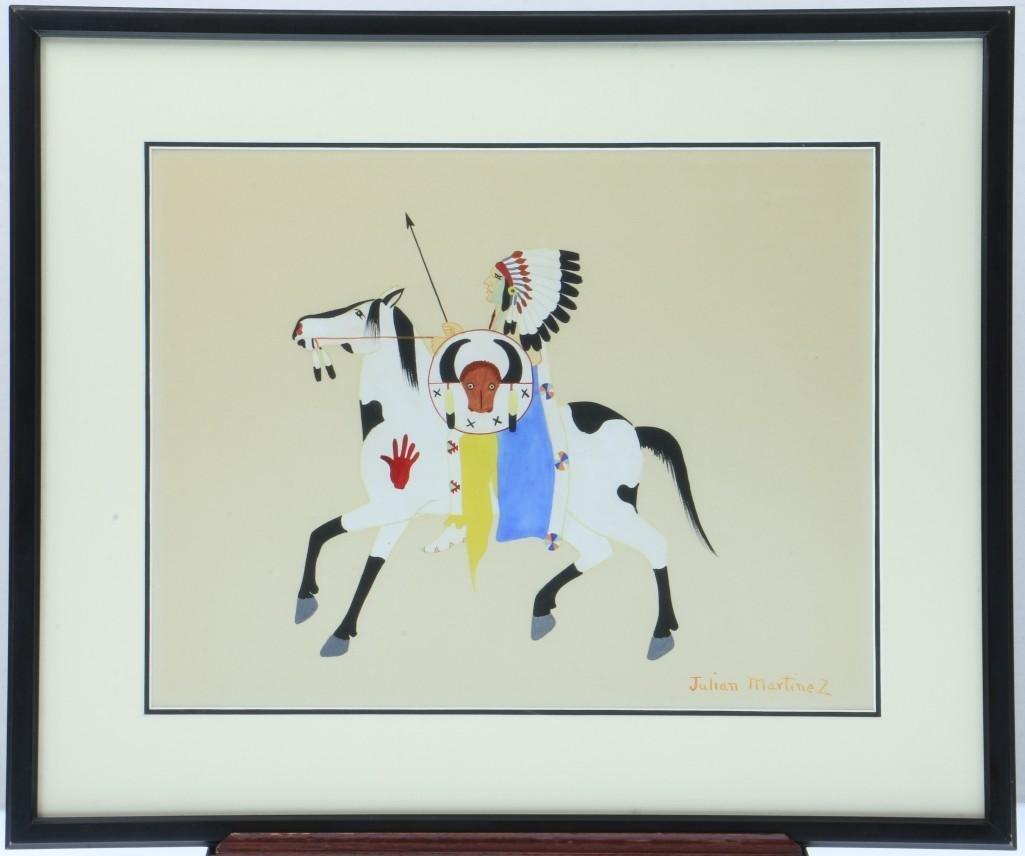 San Ildefonso painting of a man on horseback - 2