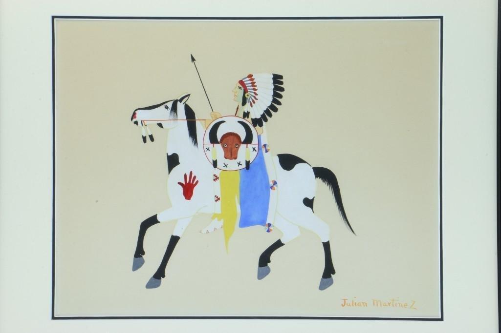 San Ildefonso painting of a man on horseback - 3