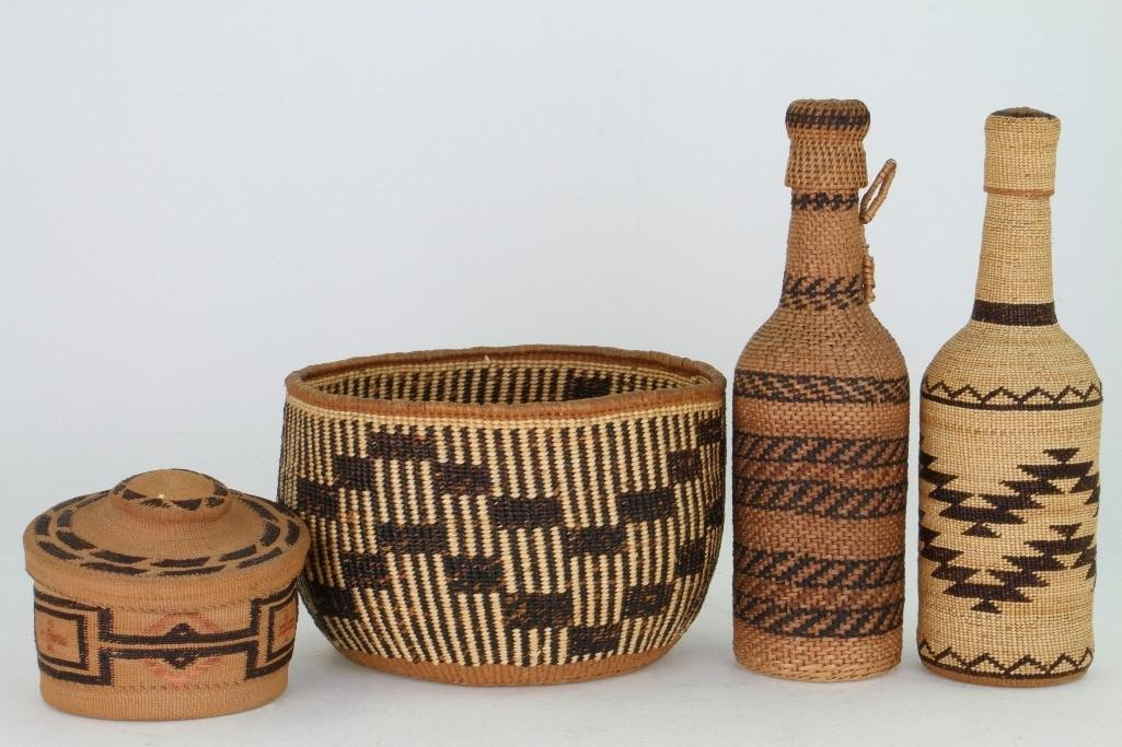 Four Western basketry items