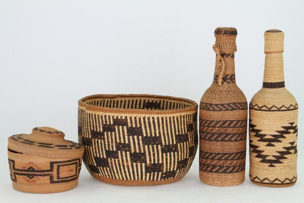 Four Western basketry items - 2