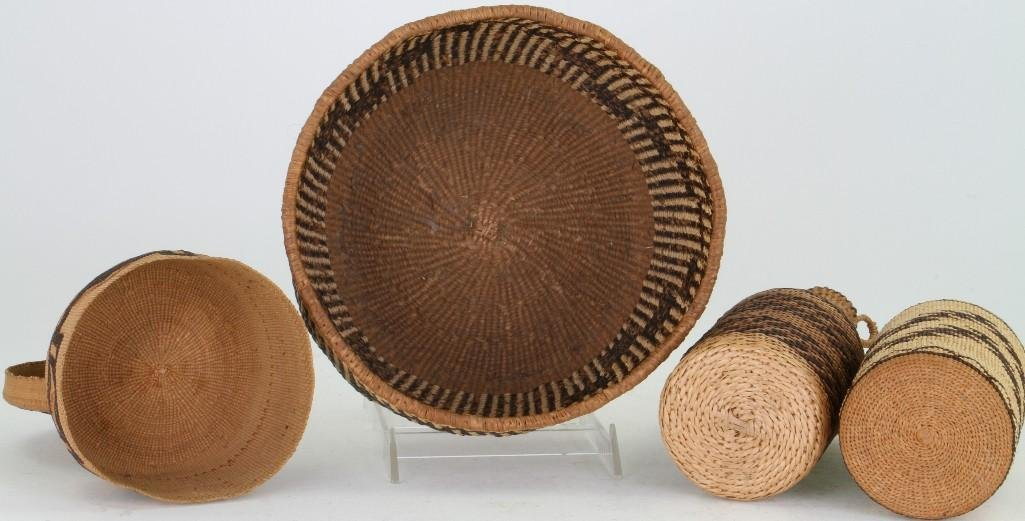 Four Western basketry items - 3