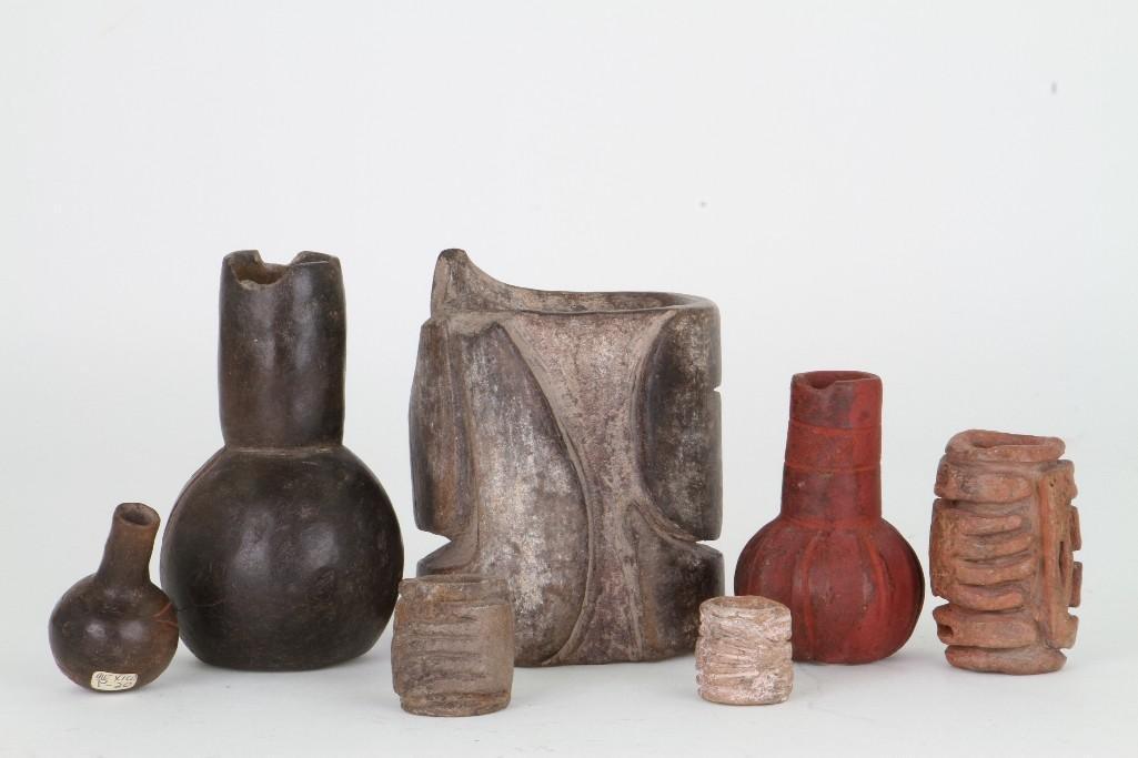 Seven Olmec/Olmecoid ceramic items - 2