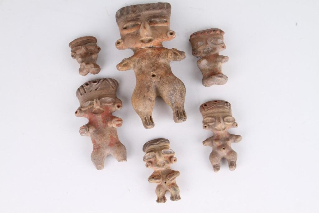 "Six Mexican pre-Classic ""pretty lady"" figures - 2"