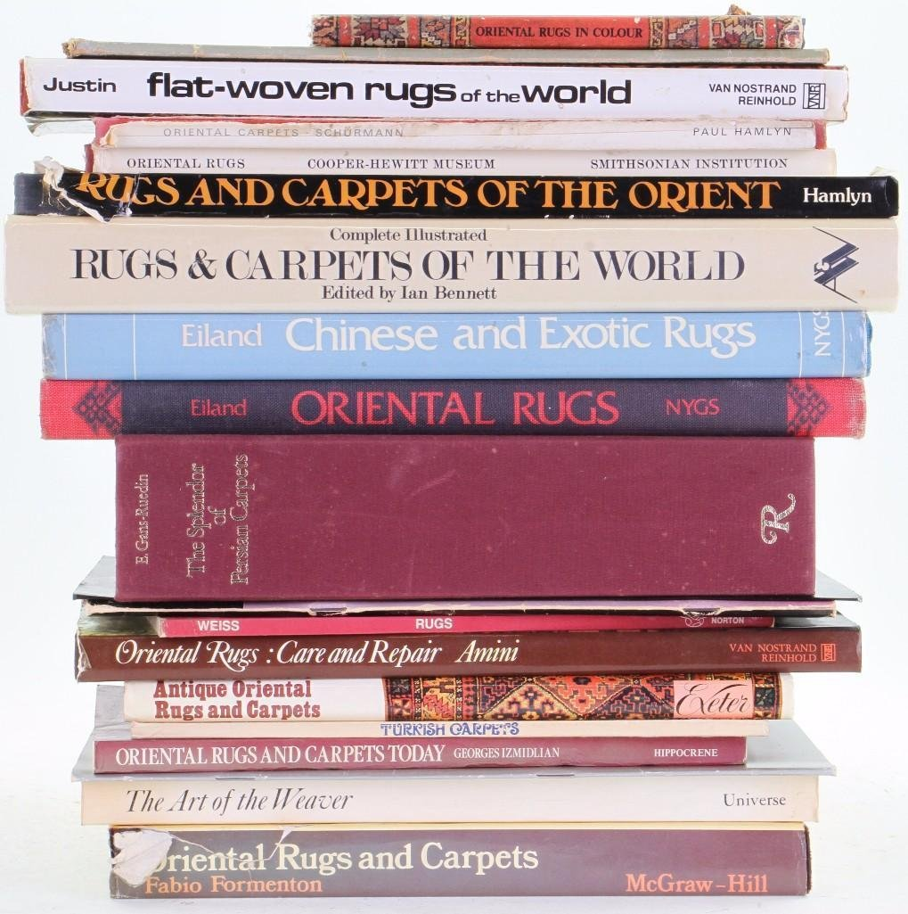 Twenty books on Oriental rugs and related textile theme