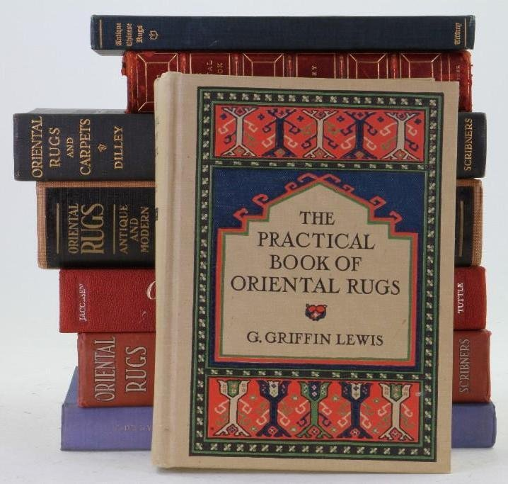 Eight classic books on Oriental rugs