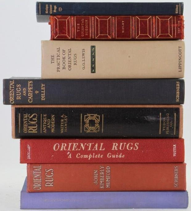 Eight classic books on Oriental rugs - 2