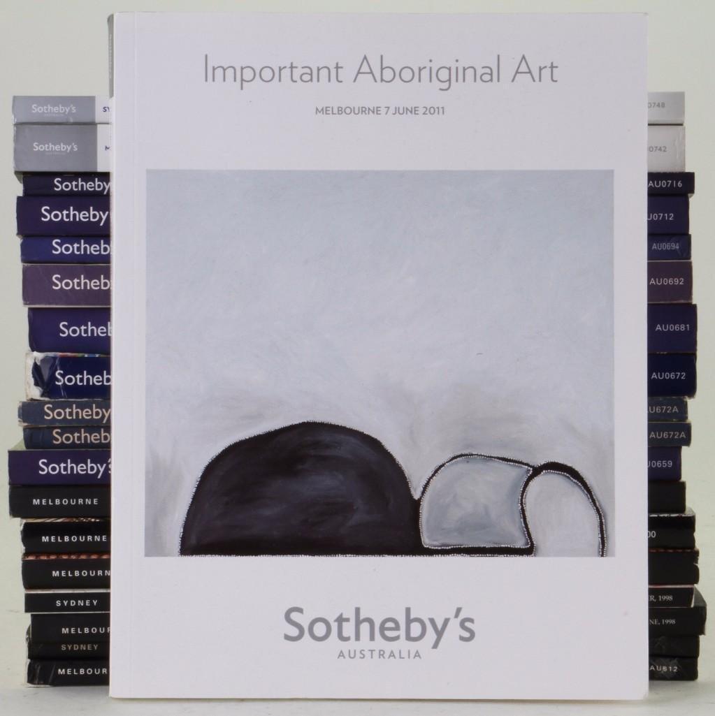Nineteen Sotheby's Aboriginal art auction catalogues: M
