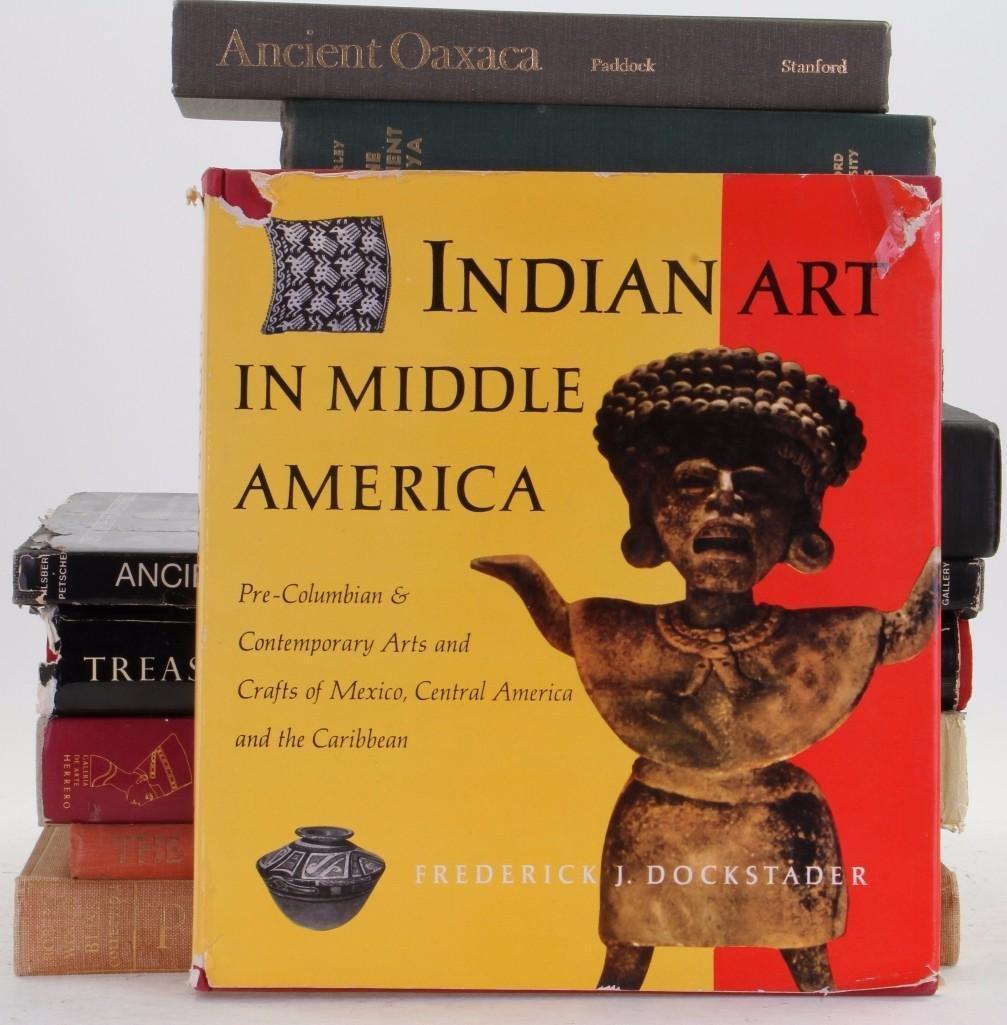 Eleven books on pre-Columbian art