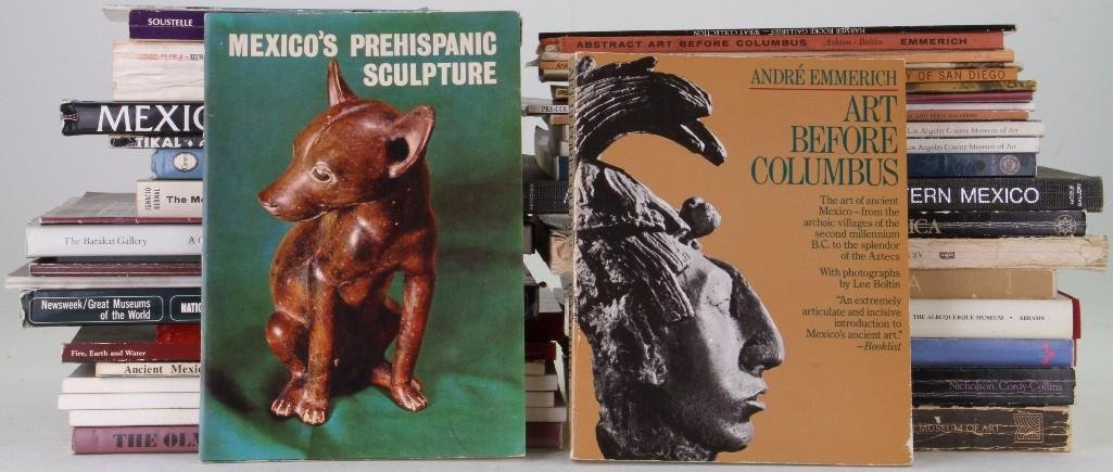 Forty-three books and journals on the pre-Columbian art