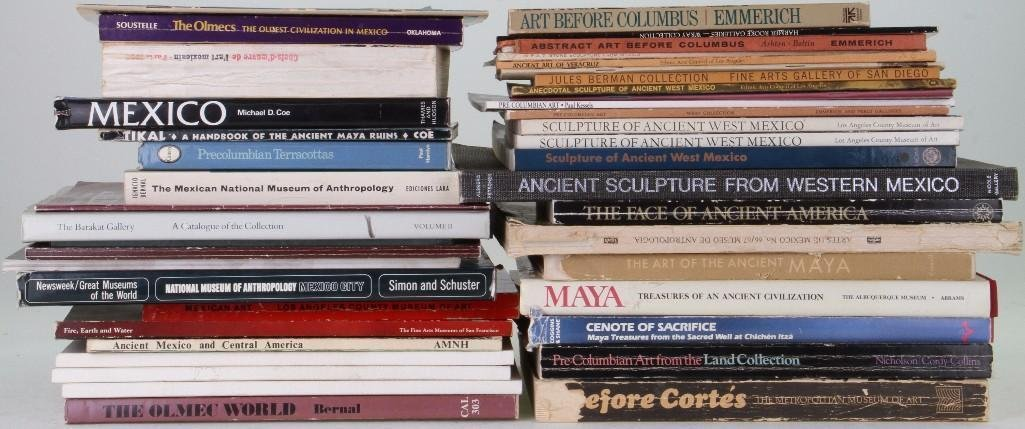 Forty-three books and journals on the pre-Columbian art - 2