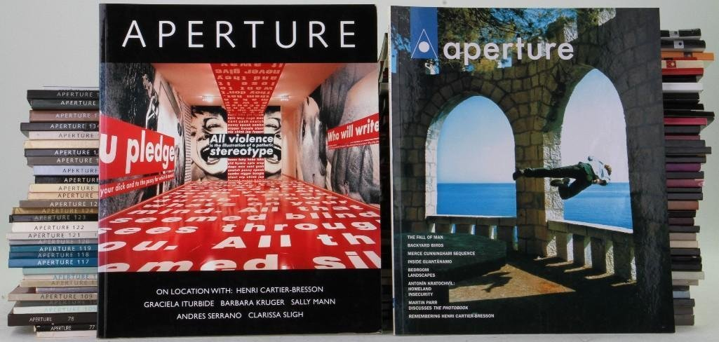 Eighty-eight photography magazines: Aperture (mostly),