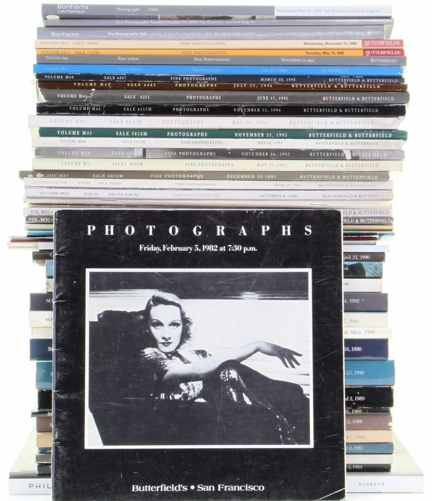 Forty-seven Fine Photography auction catalogues