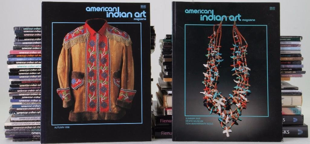 Sixty-four American Indian Art magazines and related re