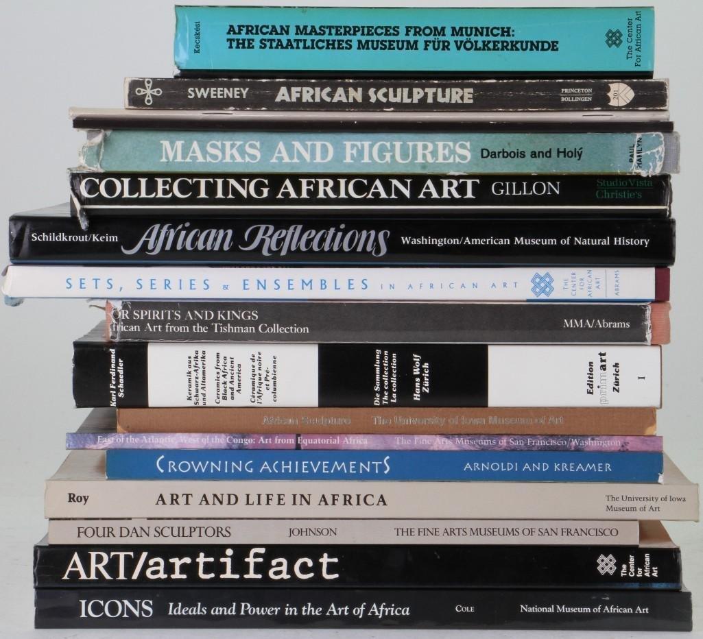 Sixteen books on African art