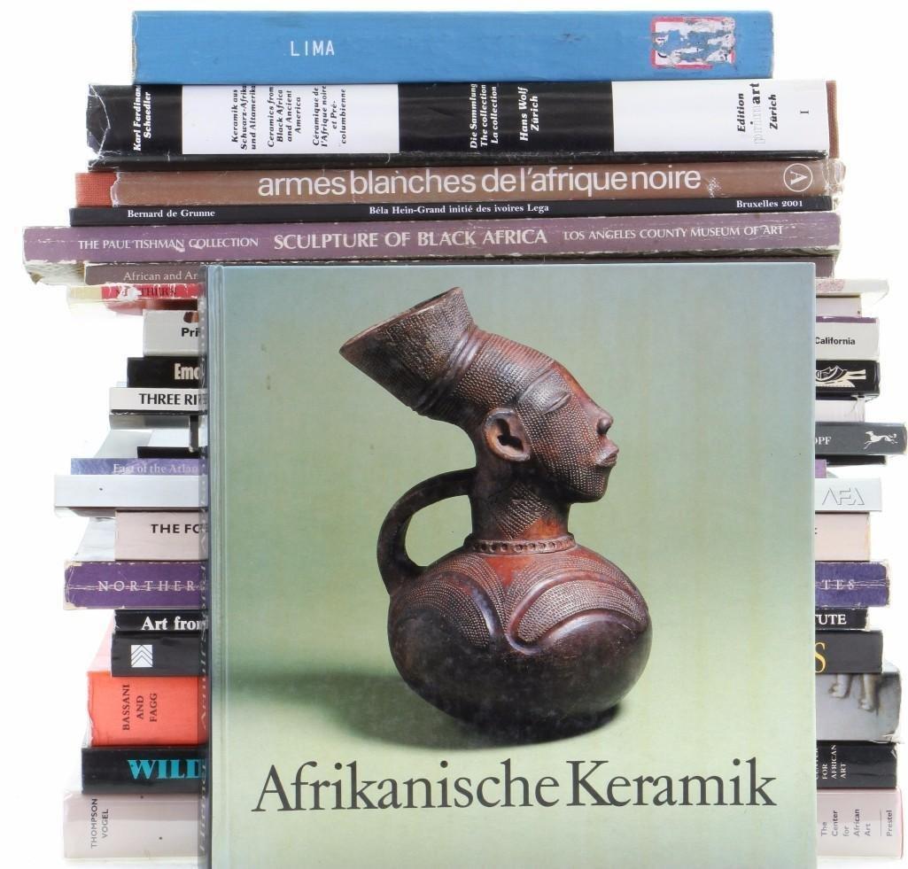 Twenty-three books on African art