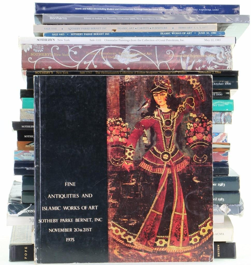 Twenty-four auction catalogues and related reference bo