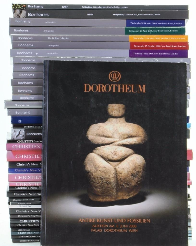 Forty-one auction catalogues of Classical Antiquities: