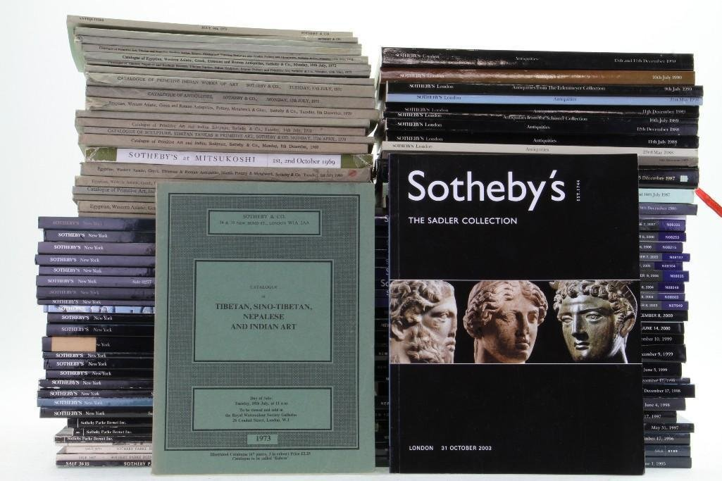 Eighty-seven Sotheby's auction catalogues of Classical