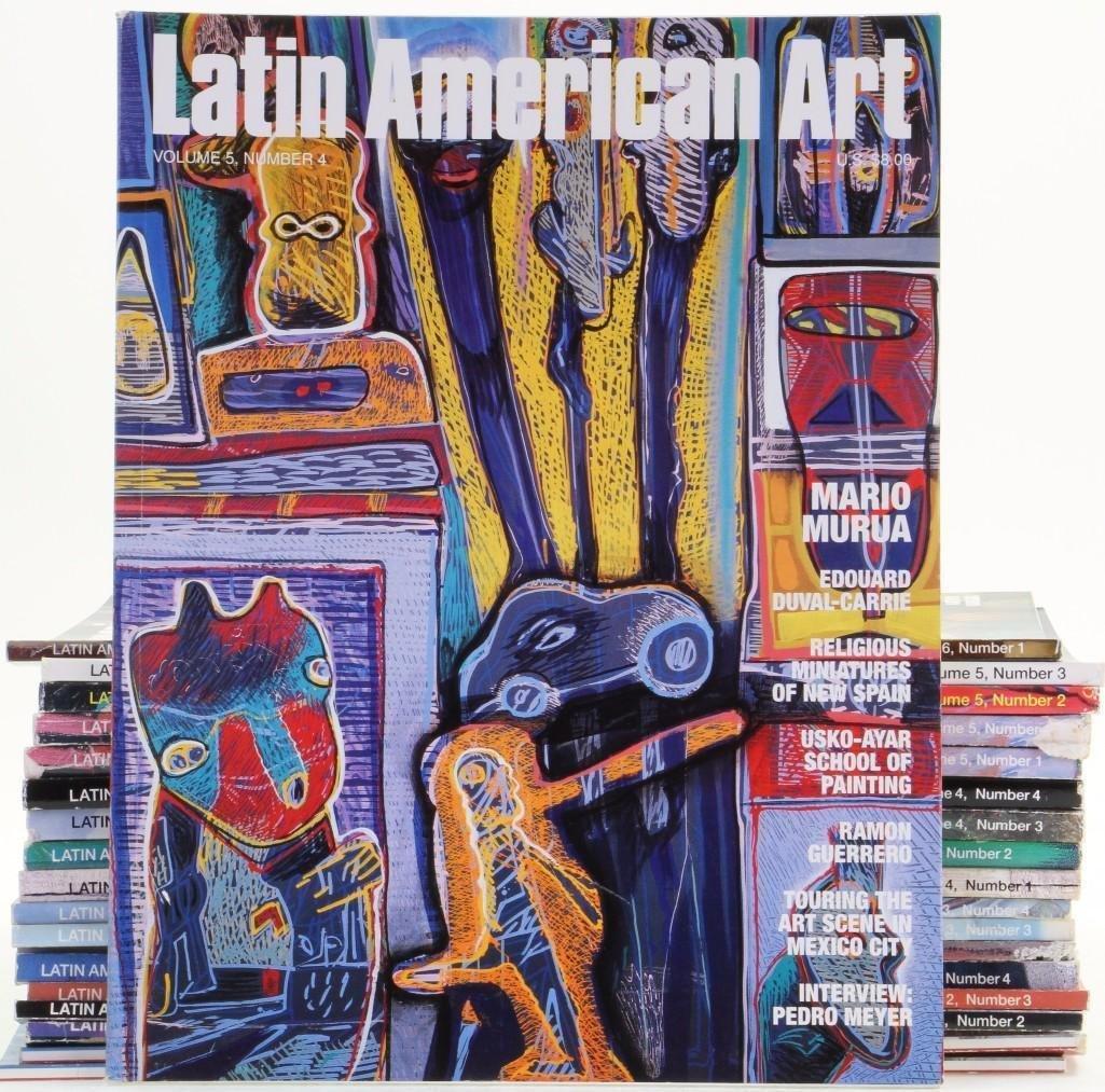 Nineteen issues of Latin American Art magazine