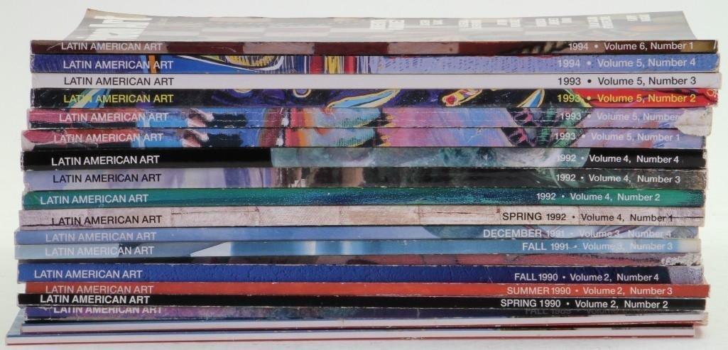 Nineteen issues of Latin American Art magazine - 2