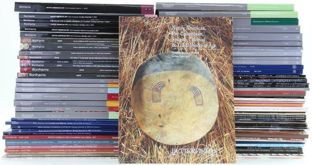 Eighty-three Butterfields/Bonhams Native American art a