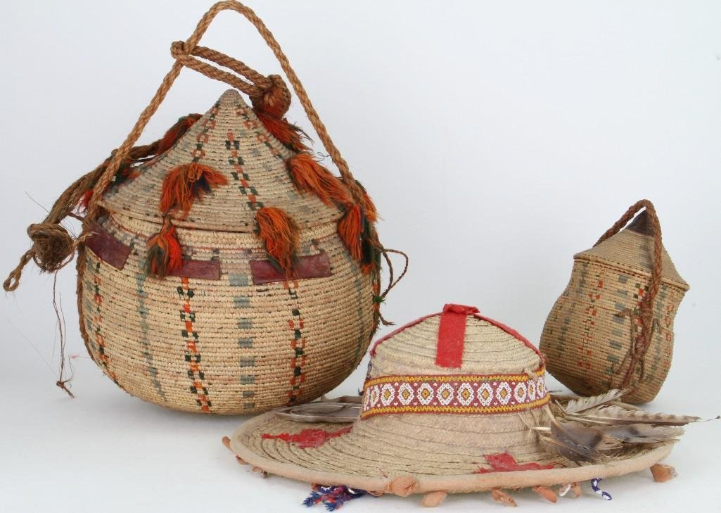 Three ethnographic basketry items - 2