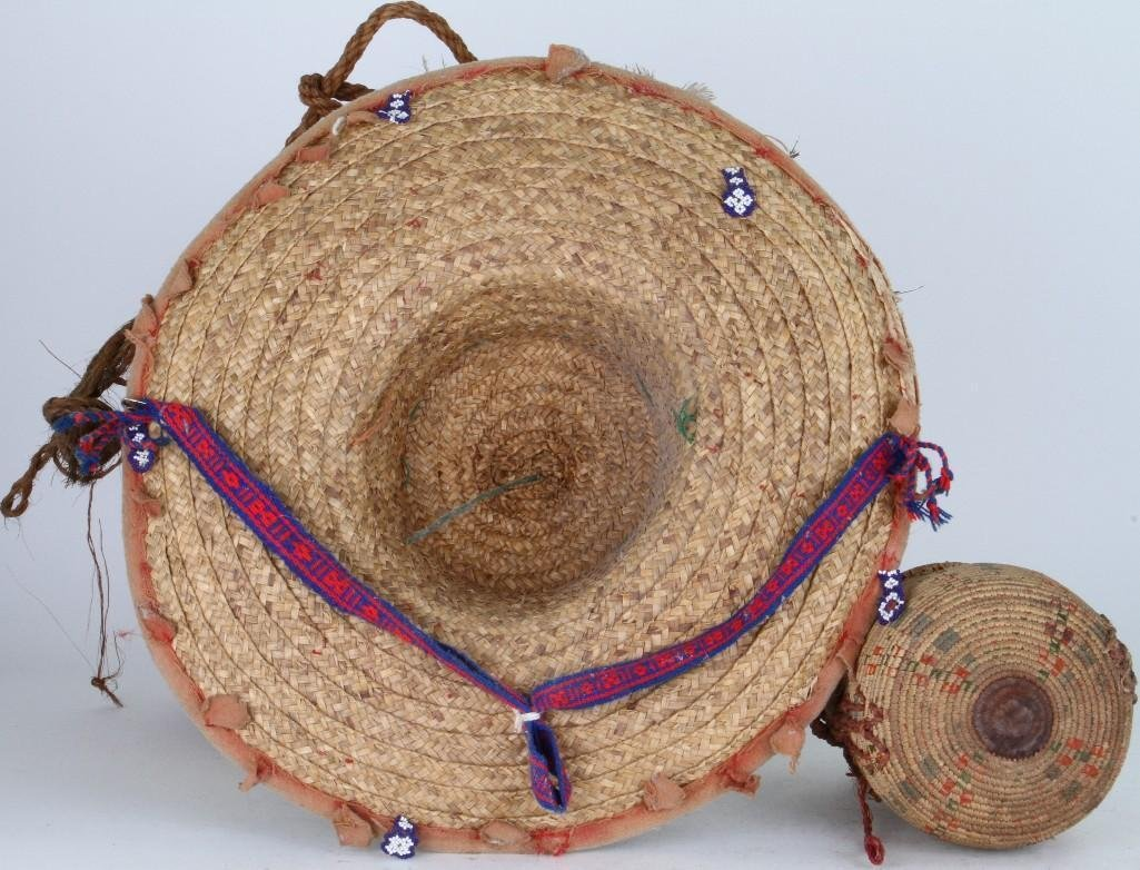 Three ethnographic basketry items - 3