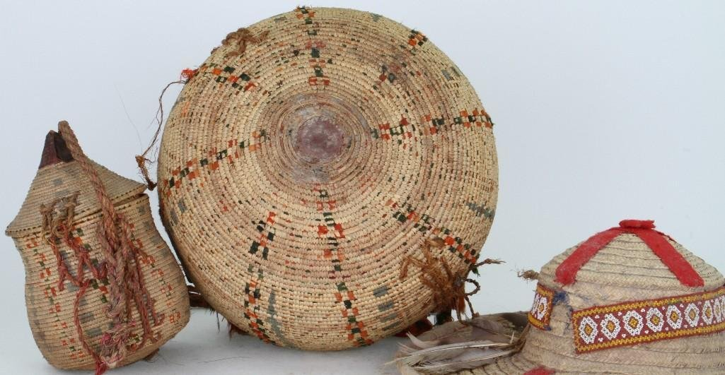Three ethnographic basketry items - 4