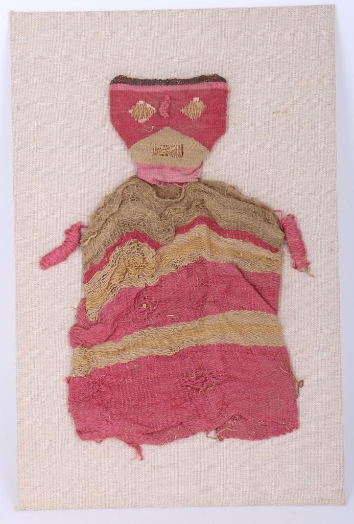 A Peruvian pre-Columbian textile doll