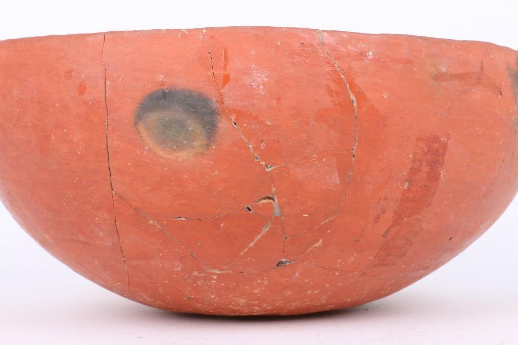 A Wingate black-on-red bowl - 4