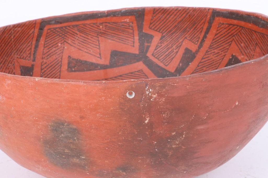 A Wingate black-on-red bowl - 5