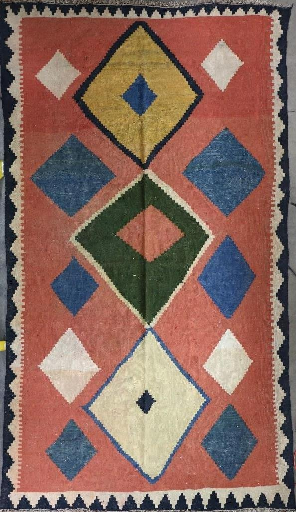 An Afghani room-sized kilim rug - 7