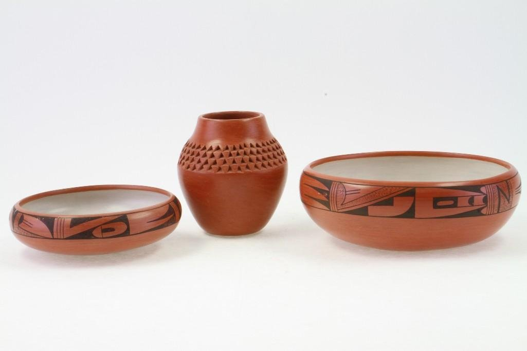 Three Hopi vessels