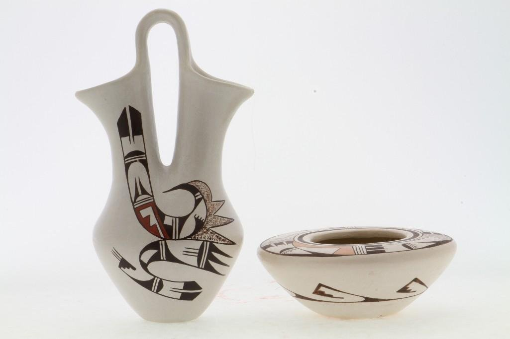 Two Hopi polychrome vessels